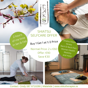 January Shiatsu Buy 1 Get 1 Half Price