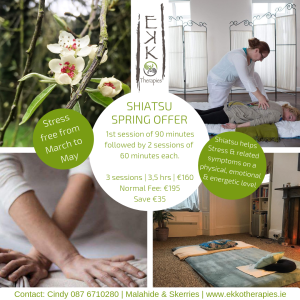 Course of Shiatsu March to May